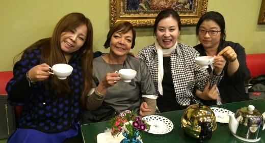 Taking afternoon tea